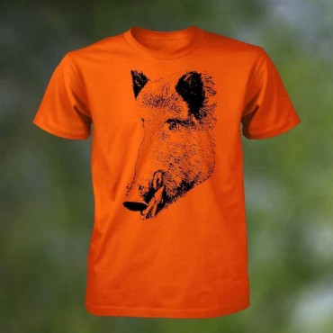 T-SHIRT ORANGE AVEC MOTIF...