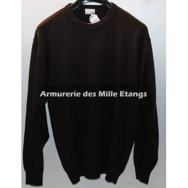 PULL MARRON COL ROND...