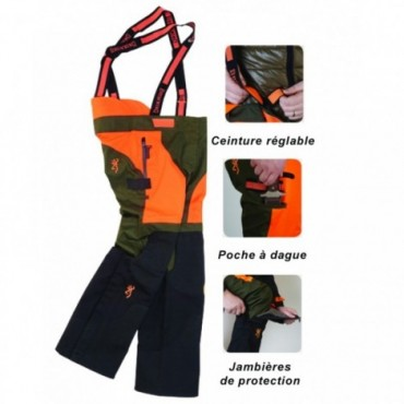 PANTALON BROWNING TRACKER PRO ORANGE NEUF